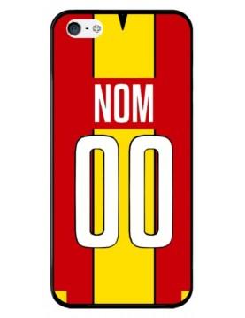 Coque football personnalisable iPhone 5-5S-SE équipe de Lens maillot domicile