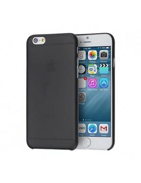 Coque iPhone 7/8 souple translucide noire.