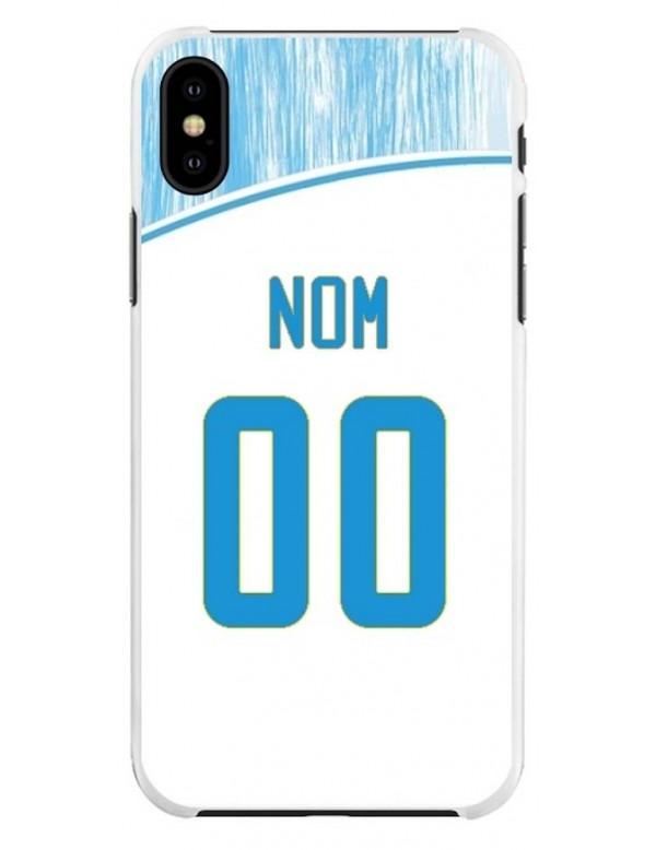 Coque Football personnalisable iPhone X/XS - Marseille OM domicile