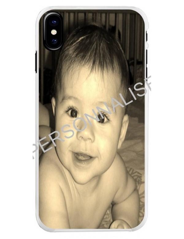 Coque personnalisable pour iPhone X/XS - Contour Rigide Blanc