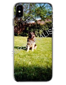 Coque personnalisable pour iPhone X/XS - Contour Rigide Transparent