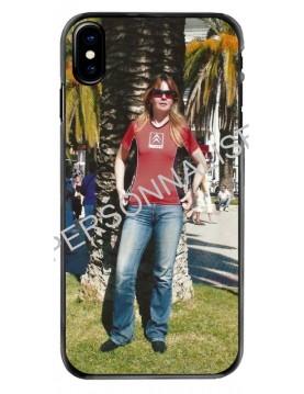 Coque personnalisable pour iPhone X/XS - Contour Souple Noir