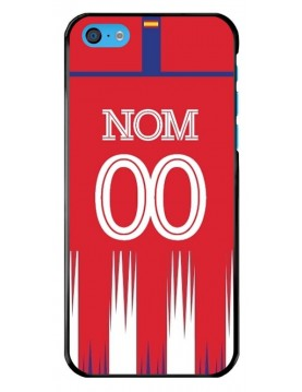 Coque iPhone 5C - Football Atletico Madrid Domicile - Personnalisable