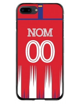 Coque iPhone 7 Plus et 8 Plus - Football Atletico Madrid Domicile - Personnalisable