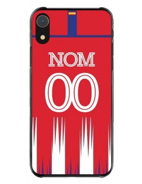 Coque iPhone Xr - Football Atletico Madrid Domicile - Personnalisable