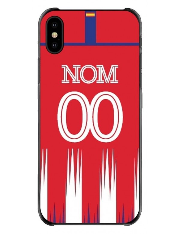 Coque iPhone XS Max - Football Atletico Madrid Domicile - Personnalisable