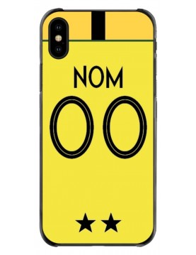 Coque football iPhone Xs Max coupe du monde France Maillot gardien jaune