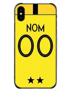 Coque football iPhone X-XS coupe du monde France Maillot gardien jaune