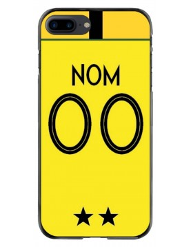 Coque football iPhone 7 Plus et 8 Plus. Coupe du monde France Maillot gardien de but jaune