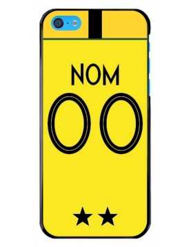 Coque football iPhone 5C. Coupe du monde France Maillot gardien de but jaune