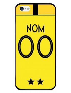 Coque football iPhone 5/5S et SE. Coupe du monde France Maillot gardien de but jaune