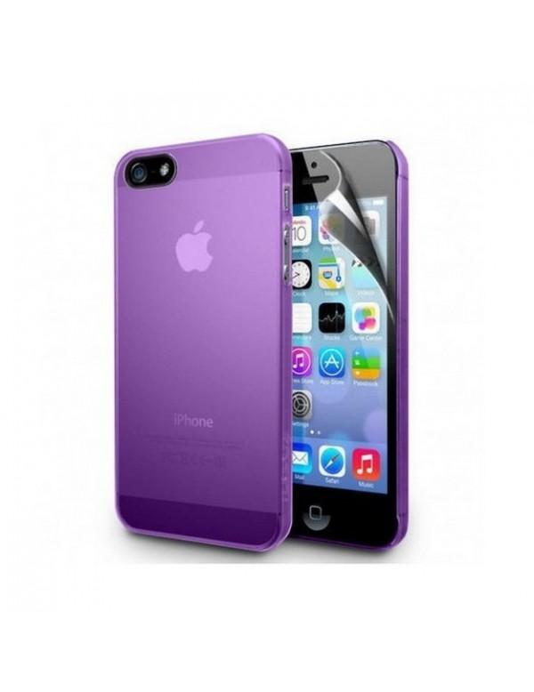 Coque iPhone 5/5S en silicone violet