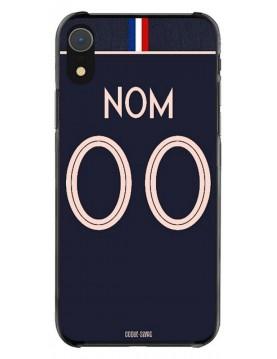 Coque coupe du monde féminine 2019 - iPhone  XR personnalisable - Domicile - Maillot bleu
