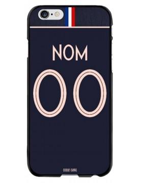 Coque coupe du monde féminine 2019 - iPhone 6 et 6S - personnalisable - Domicile - Maillot bleu