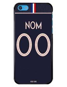 Coque coupe du monde féminine 2019 - iPhone 5C - personnalisable - Domicile maillot bleu