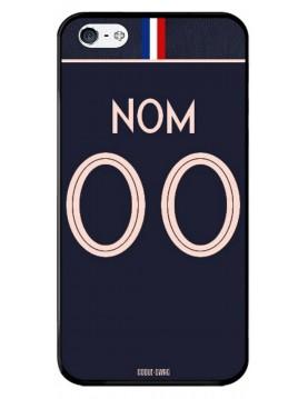 Coque coupe du monde féminine 2019 - iPhone 5 5S et SE - personnalisable - Domicile maillot bleu