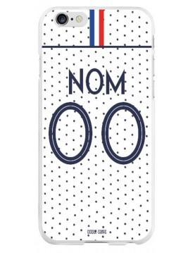 Coque coupe du monde féminine 2019 - iPhone 6 PLUS/6S PLUS - personnalisable - Extérieur - Maillot blanc