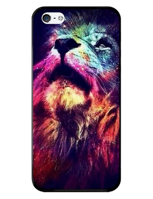Coque souple pour iPhone 5/5S et iPhone SE - Tête de lion