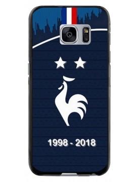 Coque rigide Samsung Galaxy S6 EDGE - Football Champion du monde 2018 - Merci les bleus!
