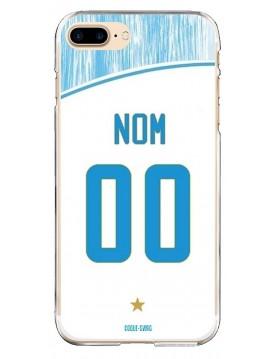 Coque Football personnalisable iPhone 7 Plus 8 Plus - Marseille OM domicile