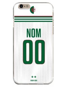 Coque personnalisable football maillot Algérie pour iPhone 6/6s domicile deux étoiles souple blanc