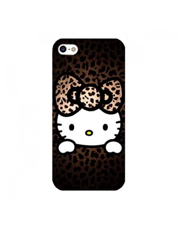 Coque iPhone 5/5S, SE Hello Kitty marron