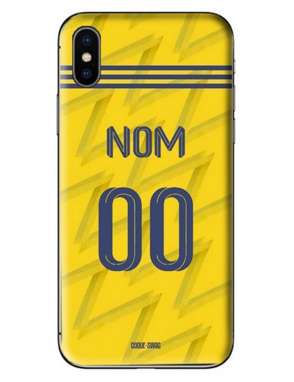 COQUE MAILLOT FOOT - ARSENAL EXTERIEUR 2019/2020 - PERSONNALISABLE