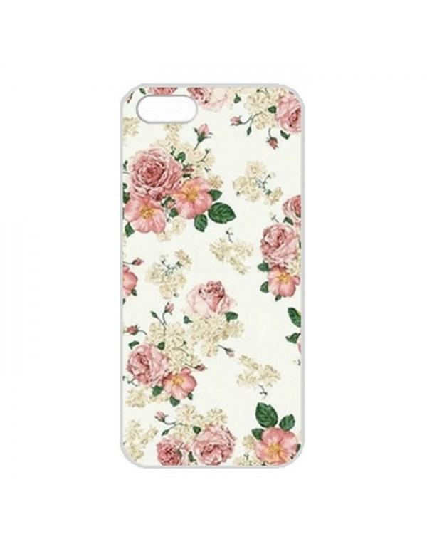 Coque iPhone 5/5S fleurs rose