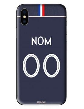 COQUE MAILLOT FOOT - FRANCE DOMICILE FEMININE 2019 - PERSONNALISABLE