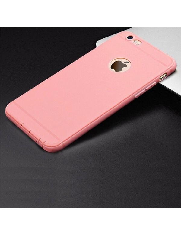 Coque silicone iPhone 6/6S - Rose pâle