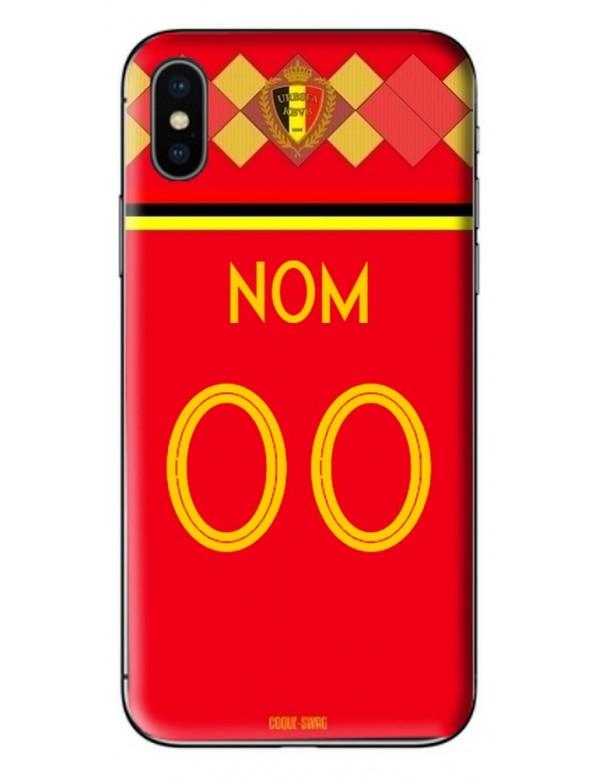 Coque coupe du monde 2018 personnalisable - Belgique domicile