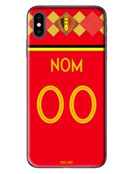 Coque coupe du monde 2018 iPhone X-XS personnalisable - Belgique domicile