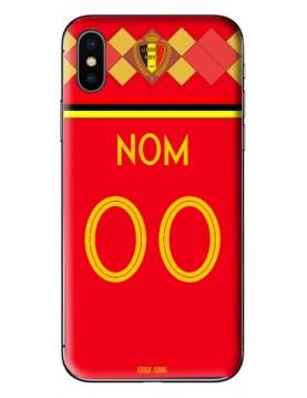 Coque coupe du monde 2018 iPhone XS MAX personnalisable - Belgique domicile