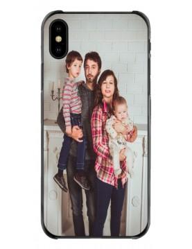 Coque-Personnalisée-iPhone-XS-MAX-Souple-Contours-Noirs