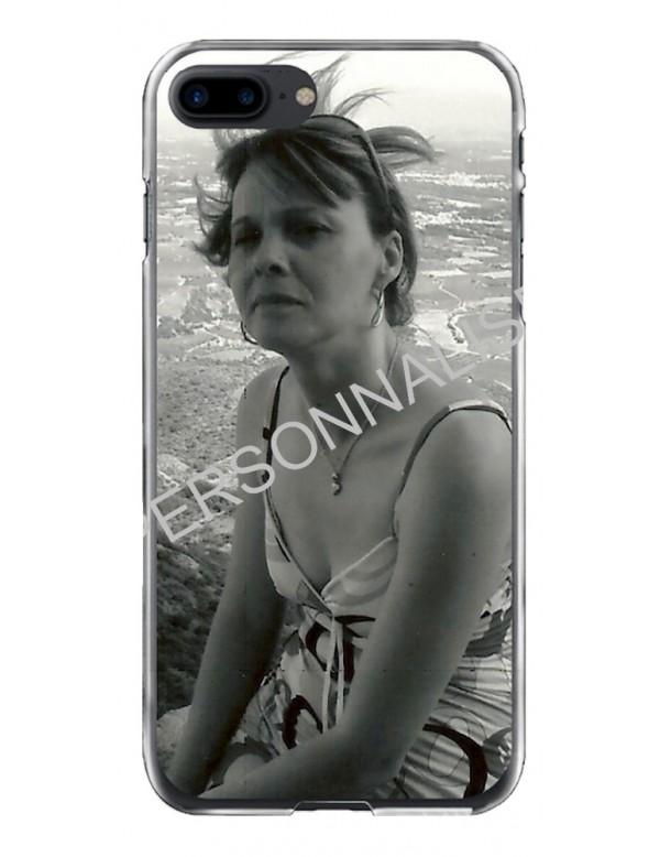 iPhone 7 Plus/8 Plus - Coque personnalisable - Contour Rigide Transparent