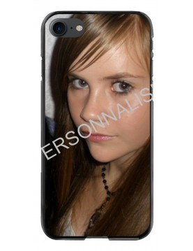 iPhone 7/8 - Coque personnalisable - Contour Rigide Noir