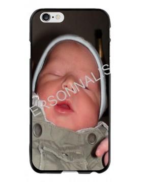 iPhone 6 PLUS/6S PLUS - Coque personnalisable - Contour Souple Noir