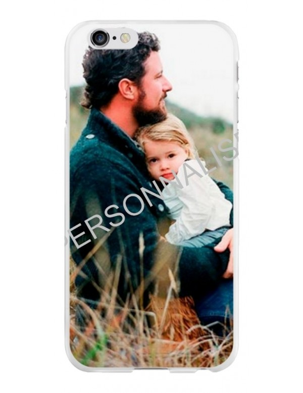 Coque personnalisable pour iPhone 6/6S - Contour souple Blanc