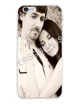 iPhone 6/6S - Coque personnalisable - Contour Rigide Blanc