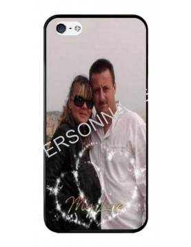 iPhone 5/5S, SE - Coque personnalisable - Contour Souple Noir
