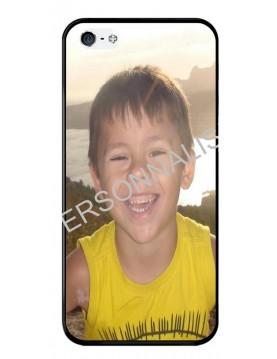 iPhone 5/5S, SE - Coque personnalisable - Contour Rigide Noir
