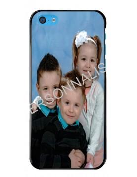 iPhone 5C - Coque personnalisable - Contour Rigide Noir