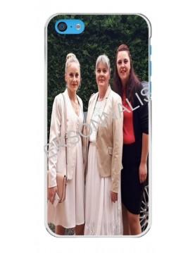 iPhone 5C - Coque personnalisable - Contour Rigide Blanc