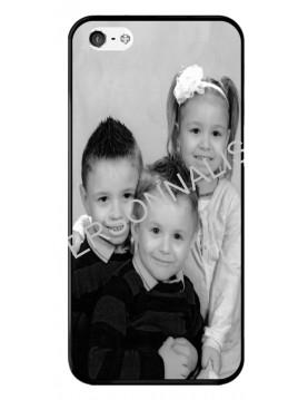 iPhone 4/4S - Coque personnalisable - Contour Souple Noir
