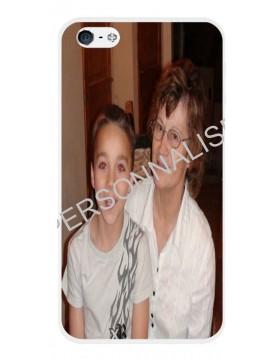 iPhone 4/4S - Coque personnalisable - Contour souple Blanc