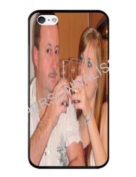 iPhone 4/4S - Coque personnalisable - Contour Rigide Noir