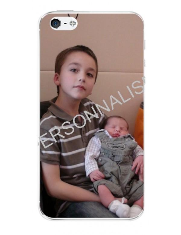 iPhone 4/4S - Coque personnalisable - Contour Souple Transparent