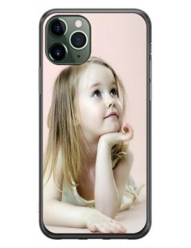Coque personnalisable pour iPhone 11 PRO MAX - Contour Souple Noir