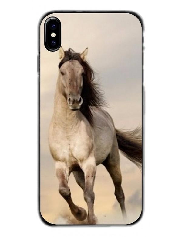 Coque de Protection pour iPhone  - Magnifique Cheval blanc