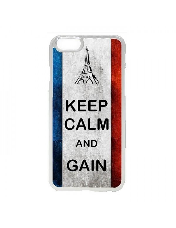 Coque iPhone 5/5S Euro 2016 France Keep Calm and Gain